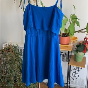 NWT Vince Camino royal blue off the shoulder dress